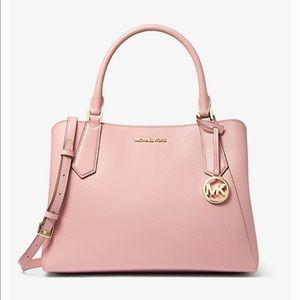Michael Kors Kimberly leather satchel bag blossom